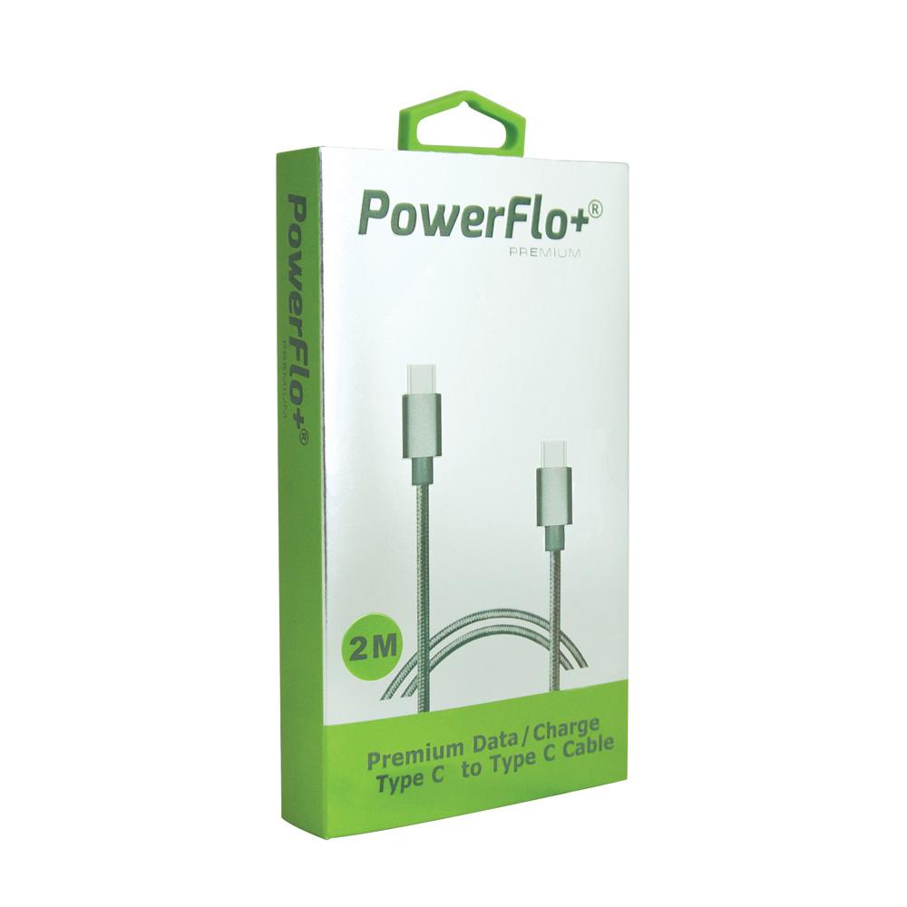 Powerflo-Premium-Spring-Type-C-to-Type-C-Data-Sync-cable